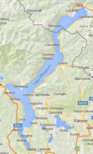 Kaart van Lago Maggiore